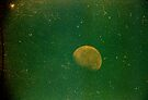 grungy little green moon by Juilee  Pryor