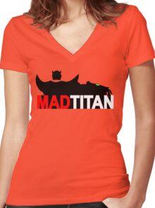 Mad Titan - Gem Color Variant  Women's Fitted V-Neck T-Shirt