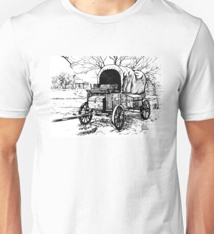Chuck Wagon on the Johnson Settlement Unisex T-Shirt