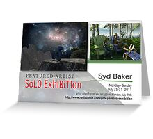 Syd Baker, Solo Exhibition Banner Greeting Card