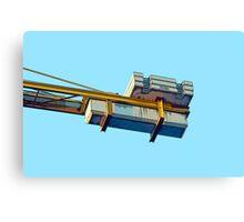 a crane in the sky Canvas Print