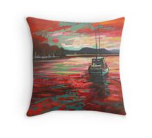 Bellanoch Boats Throw Pillow