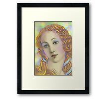 'Beautiful' Face #1, Three Faces of a Modern Day American Venus Framed Print