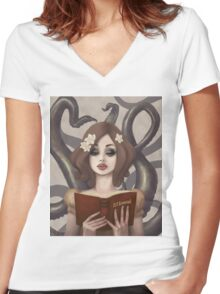 Captivating Women's Fitted V-Neck T-Shirt