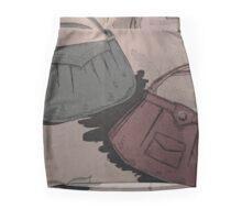 neonflash abstract art pattern fabrics vintage woman bags Mini Skirt