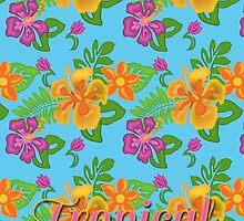 Hawaiian Tropical Pattern by Carol Vega