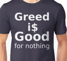 Good For Nothing - White Lettering, Funny Unisex T-Shirt