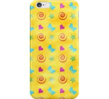Hearts, Bows, Stars, and Spirals iPhone Case/Skin