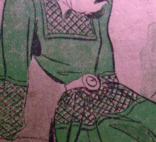 neonflash vintage fabrics girl dress Sticker