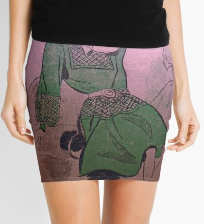 neonflash vintage fabrics girl dress Mini Skirt