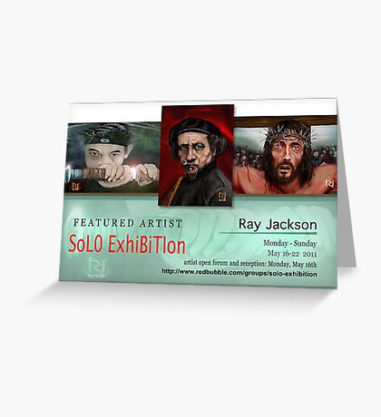 Ray Jackson, Solo Exhibition Banner Greeting Card