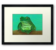 Lazing By The Pool Framed Print