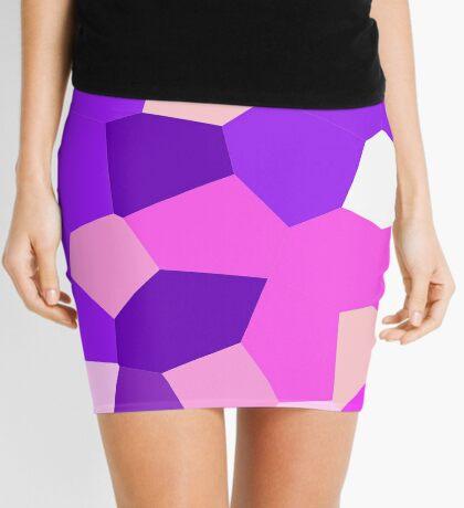 neonflash abstract art fabrics Pinky Mini Skirt