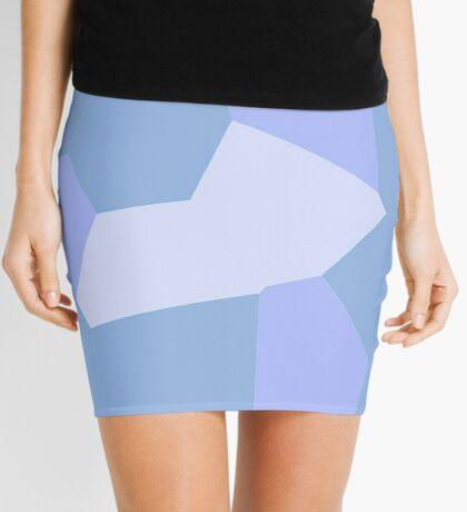 neonflash abstract art fabrics Sapphire Mini Skirt