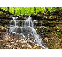 Small Indiana Waterfall Photographic Print