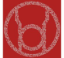 Red Lantern Oath (White) Photographic Print