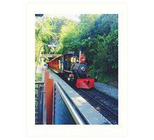 Disneyland railroad  Art Print