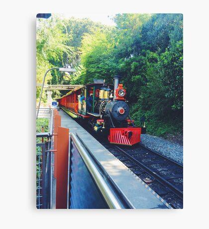 Disneyland railroad  Canvas Print
