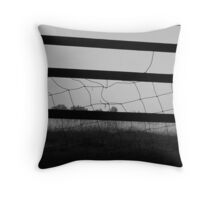 fenced Throw Pillow