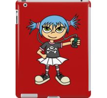 Scene Girl with MP3 Player iPad Case/Skin