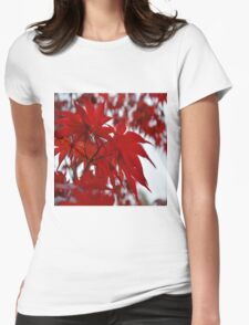 Japanese Maple Tree Womens Fitted T-Shirt