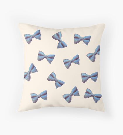 Scattered Bow Ties Throw Pillow