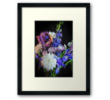 Blue Purple White Flower Bouquet Framed Print
