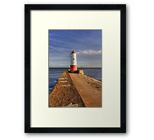 Berwick Upon Tweed Lighthouse Framed Print