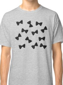 Scattered Bow Ties- Black Classic T-Shirt