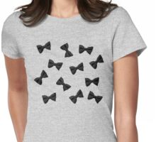 Scattered Bow Ties- Black Womens Fitted T-Shirt