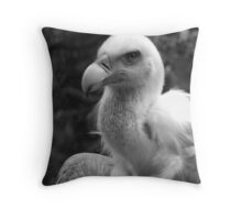 Collar of silk-soft feathers Throw Pillow