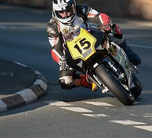 Michael Dunlop on the Norton Rotary by Photodoktor