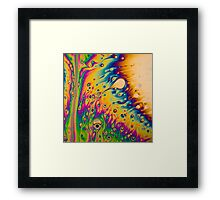 Light Interference on a Soap Bubble Framed Print