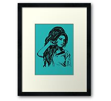 Icon: Amy Winehouse Framed Print