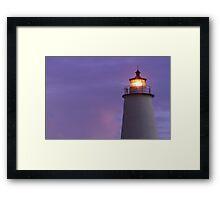 Ocracoke Light at Dawn Framed Print