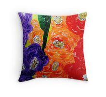 Oakland Glad Designer Fashion By Octavious Sage Throw Pillow