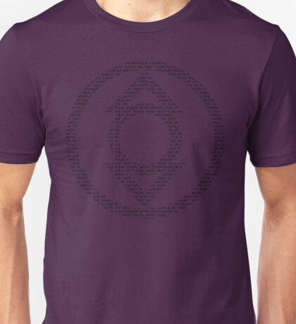 Indigo Lantern Oath (Black) Unisex T-Shirt