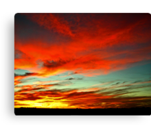 Nebraska Sunset 1 Canvas Print