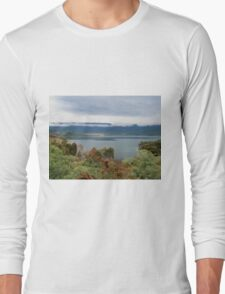 Fishing on Lake Blowering, Snowy Mountains, NSW, Australia. Long Sleeve T-Shirt
