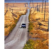 A Country Road in the Foothills Near Coalinga Oil Country Photographic Print