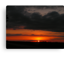 Nebraska Sunset 5 Canvas Print