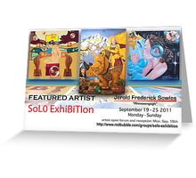 Rhinovangogh's Solo Exhibition Banner Greeting Card