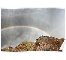 Rainbows Over Victoria Falls 1 Poster