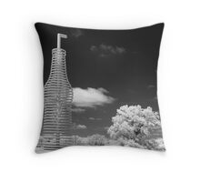"Infrared View of ""Pops"" on Route 66, Arcadia, Oklahoma Throw Pillow"