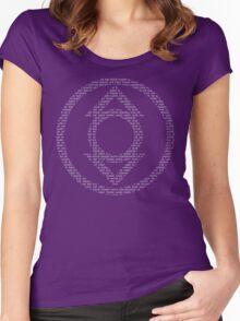 Indigo Lantern Oath (White) Women's Fitted Scoop T-Shirt