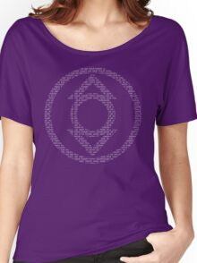 Indigo Lantern Oath (White) Women's Relaxed Fit T-Shirt