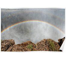 Rainbows Over Victoria Falls 2 Poster