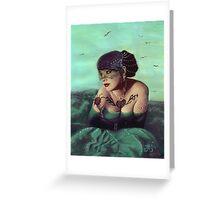 Drowning in a Sea of Taffeta Greeting Card