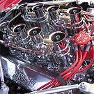 427 engine with quartet of webers  by PETER CULLEY