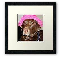 """""""Labrador Diva Named Lexie"""" Framed Print"""